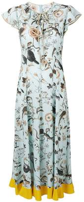 RED Valentino printed maxi dress