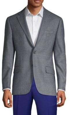 Hickey Freeman Plaid Wool Jacket