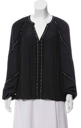 Ramy Brook Studded Long Sleeve Blouse