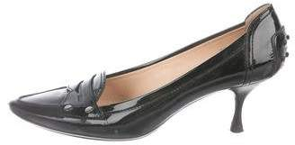 Tod's Patent Leather Loafer Pumps