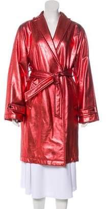 Dolce & Gabbana Metallic Virgin Wool Coat