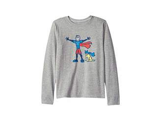 Life is Good Superhero Jake and Rocket Crusher T-Shirt Long Sleeve (Little Kids/Big Kids)