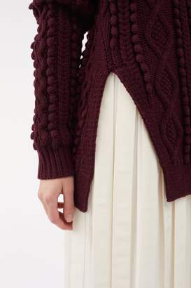 3.1 Phillip Lim Side-Slit Cable-Knit Wool Sweater