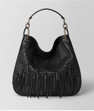 Bottega Veneta Nero Intrecciato Brio Loop Bag
