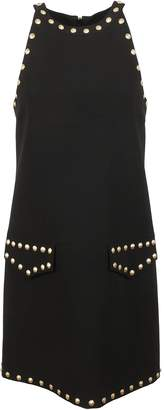Moschino Studded Mini Crepe Dress