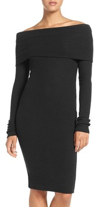Women's Nsr Off The Shoulder Body-Con Sweater Dress $62 thestylecure.com