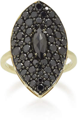 Ila Moon Shadow 14K Gold and Diamond Ring