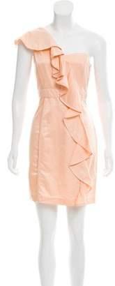 Cynthia Steffe Ruffled One-Shoulder Dress w/ Tags
