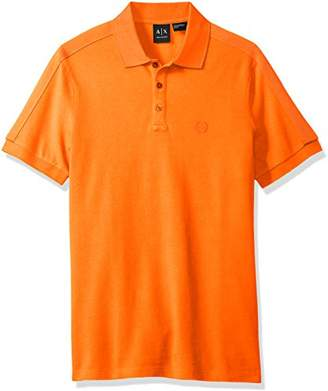 Armani Exchange A|X Men's Core SS Polo with Sleeve Taping Detail