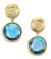 Marco Bicego Jaipur London Diamond& Blue Topaz Drop Earrings