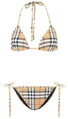 Burberry Vintage Check triangle bikini