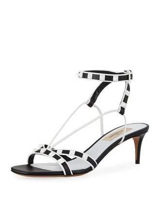 Valentino Free Rockstud Kitten-Heel Sandal