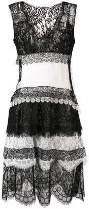 Ermanno Scervino embroidered sleeveless mini dress