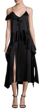 Jonathan Simkhai Silk Ruffle Midi Dress