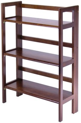 Winsome Wood 94896 3 Tier Walnut Stackable Folding Book Shelf