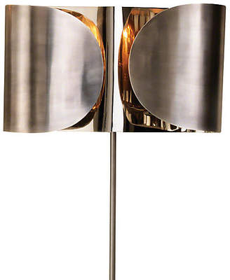 Global Views Hardwired Folded Sconce - Antiqued Nickel