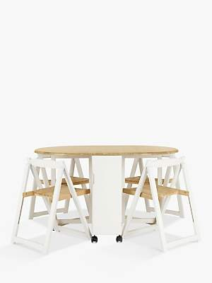 b99a758a56e John Lewis   Partners Adler Butterfly Drop Leaf Folding Dining Table and Four  Chairs