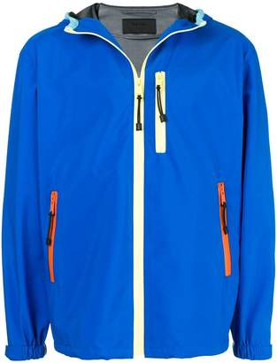 Prada colour block rain jacket