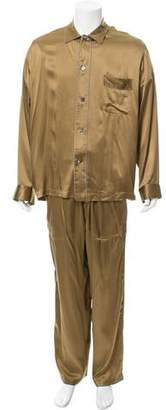 Lanvin Silk Two-Piece Pajama Set