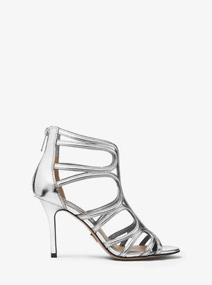 Michael Kors Norma Metallic Leather Sandal