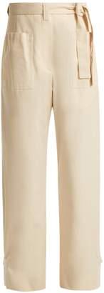 Jil Sander Esteban tie-waist cotton-canvas trousers