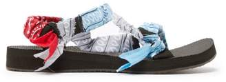 Arizona Love - Trekky Bandana Wrapped Sandals - Womens - Light Blue