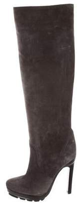 Michael Kors Round-Toe Suede Boots