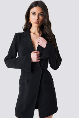 Na Kd Classic Asymmetric Blazer Dress Black