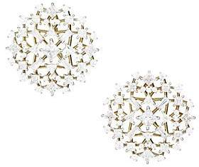 Adriana Orsini Verbena 18K Yellow Gold, Rhodium-Plated & Crystal Clip-On Button Earrings