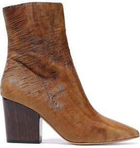 IRO Sliced Leather Ankle Boots