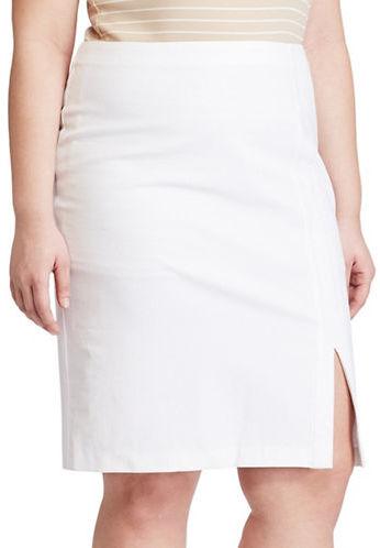Lauren Ralph LaurenLauren Ralph Lauren Plus Side-Slit Pencil Skirt