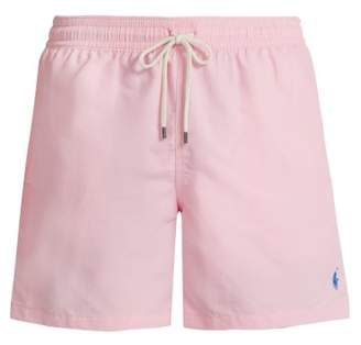 Polo Ralph Lauren Logo Embroidered Nylon Swim Shorts - Mens - Pink