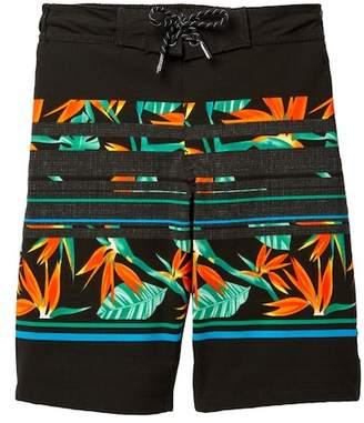 Trunks TONY HAWK Paradise Striped Board Shorts (Big Boys)