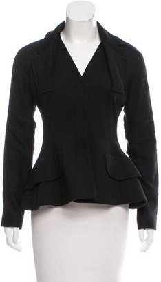 Christian Dior Wool-Blend Fitted Jacket
