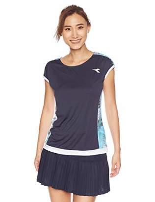 Diadora (ディアドラ) - [ディアドラ]DTG8390 Wコンペティションシャツ(レディース) テニスシャツ レディース ネイビー 日本 L (日本サイズL相当)