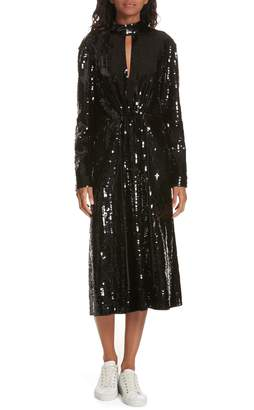 Tibi Avril Sequin Midi Dress