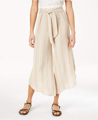 American Rag Juniors' Striped Wide-Leg Pants, Created for Macy's