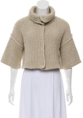Burberry Cropped Wool Shrug
