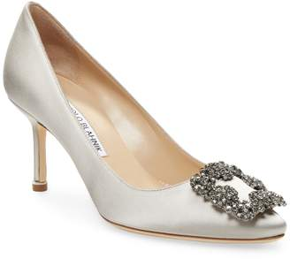 Manolo Blahnik Women's Embellished Satin Pump
