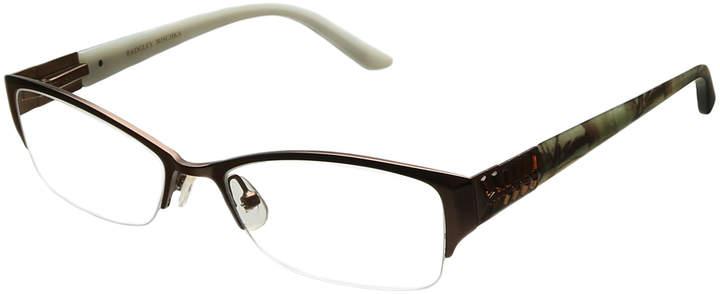 Brown Gia Half-Rim Eyeglasses
