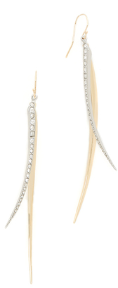 Alexis Bittar Two Tone Crystal Spear Wire Earrings $175 thestylecure.com
