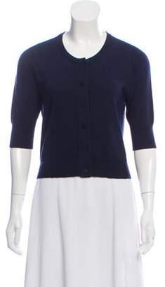 Oscar de la Renta Lightweight Cashmere & Silk-Blend Cardigan Navy Lightweight Cashmere & Silk-Blend Cardigan