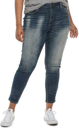 Mudd Juniors' Plus Size Mid-Rise Ankle Jeggings