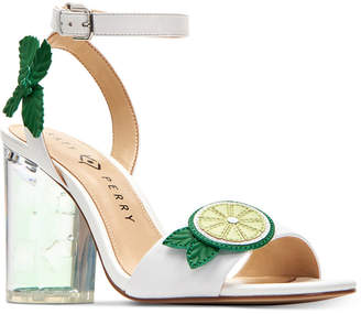 Katy Perry Rita Mojito City Lucite Heel Sandals Women's Shoes