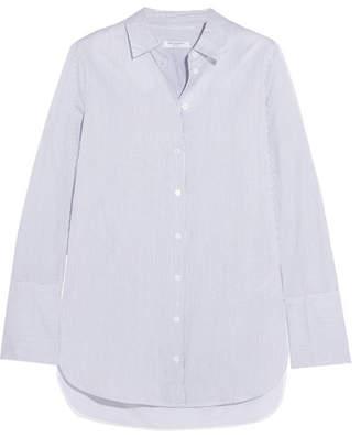 Equipment Arlette Striped Cotton-poplin Shirt - Blue