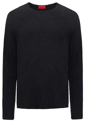 HUGO BOSS Cotton-blend sweater with terry structure
