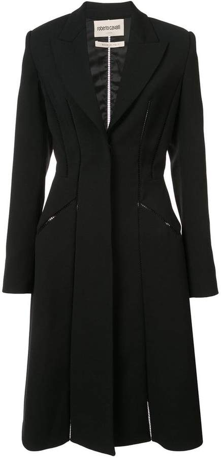 seam detailed fitted coat