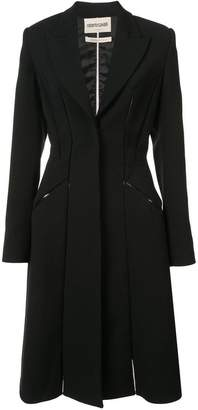 Roberto Cavalli seam detailed fitted coat