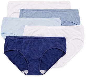 Hanes Cool Comfort Comfortsoft 5 Pair Hipster Panty 46hush
