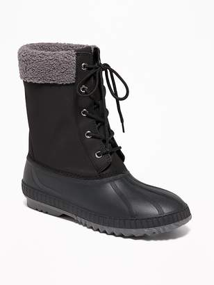 Old Navy Sherpa-Trim Lace-Up Snow Boots for Women